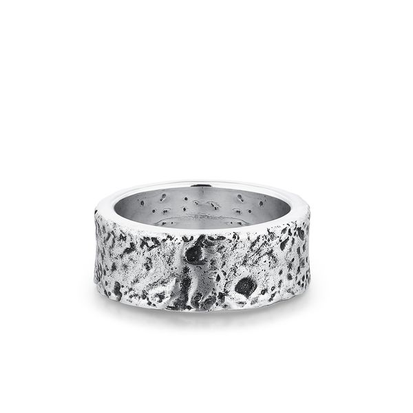WATER | Wide Band with Crater Design Barron's Fine Jewelry Snellville, GA