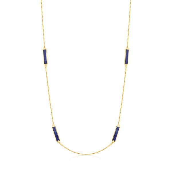 LUISANT | Sleek Lapis Station Chain Barron's Fine Jewelry Snellville, GA