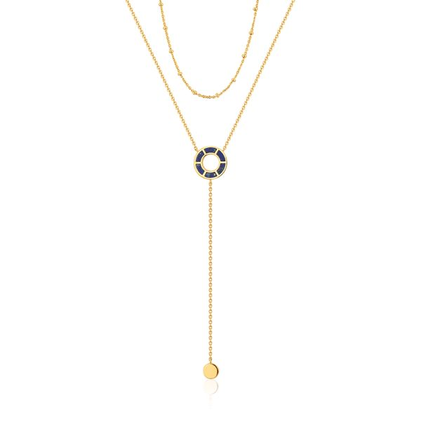 NEXUS | Double Chain Lapis Y-Necklace Barron's Fine Jewelry Snellville, GA