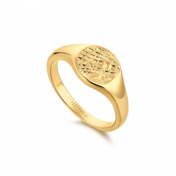 BRIO | Textured Surface Signet Ring Barron's Fine Jewelry Snellville, GA
