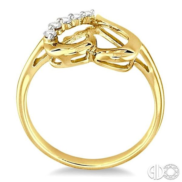 1/10 Ctw Round Cut Diamond Journey Heart Ring in 10K Yellow Gold Image 3 Becker's Jewelers Burlington, IA