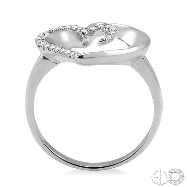1/10 Ctw Round Cut Diamond Heart Shape Ring in 14K White Gold Image 3 Becker's Jewelers Burlington, IA