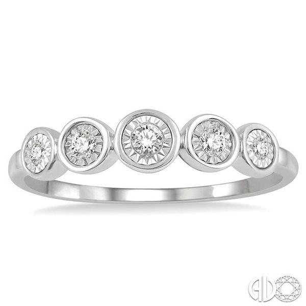 1/20 Ctw Penta Round Cut Diamond Promise Ring in 10K White Gold Image 2 Becker's Jewelers Burlington, IA
