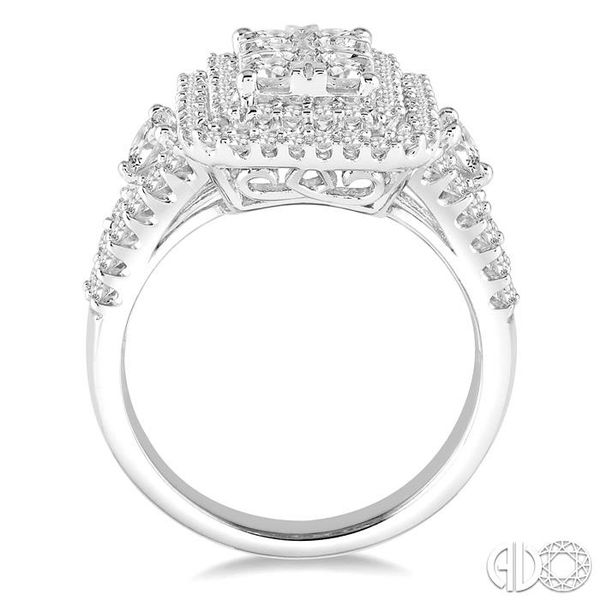 1 1/10 Ctw Round Cut Diamond Octagon Shape Lovebright Ring in 14K White Gold Image 3 Becker's Jewelers Burlington, IA