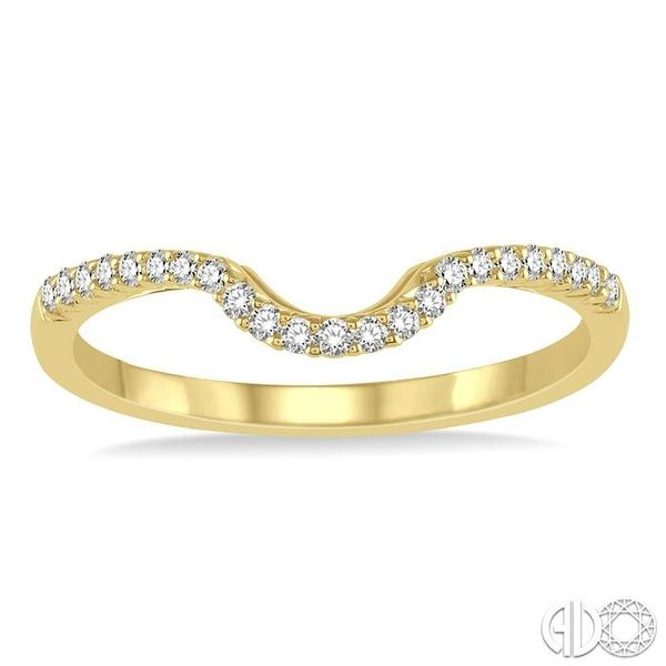 1/6 ctw Deep Curve Center Round Cut Diamond Wedding Band in 14K Yellow Gold Image 2 Becker's Jewelers Burlington, IA