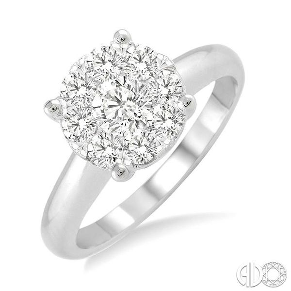1 ctw Lovebright Round Cut Diamond Bridal Ring in 14K White Gold Becker's Jewelers Burlington, IA