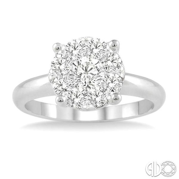 1 ctw Lovebright Round Cut Diamond Bridal Ring in 14K White Gold Image 2 Becker's Jewelers Burlington, IA