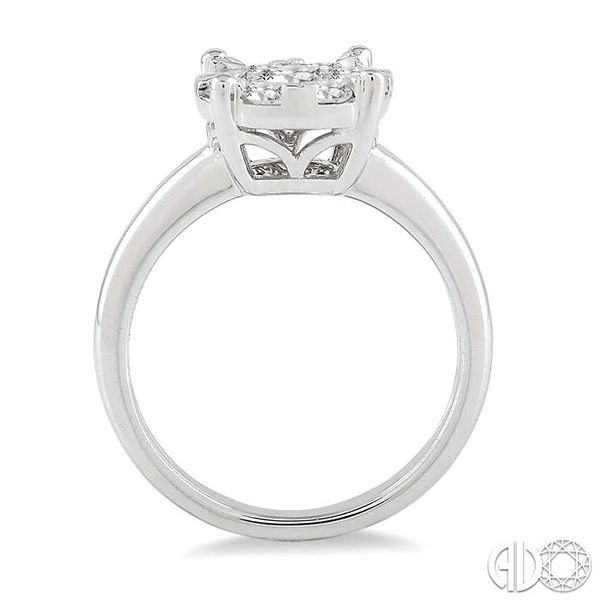 1 ctw Lovebright Round Cut Diamond Bridal Ring in 14K White Gold Image 3 Becker's Jewelers Burlington, IA