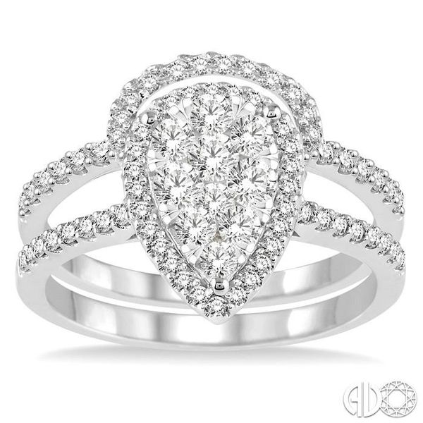 1 Ctw Diamond Lovebright Wedding Set with 3/4 Ctw Engagement Ring and 1/4 Ctw Wedding Band in 14K White Gold Image 2 Becker's Jewelers Burlington, IA