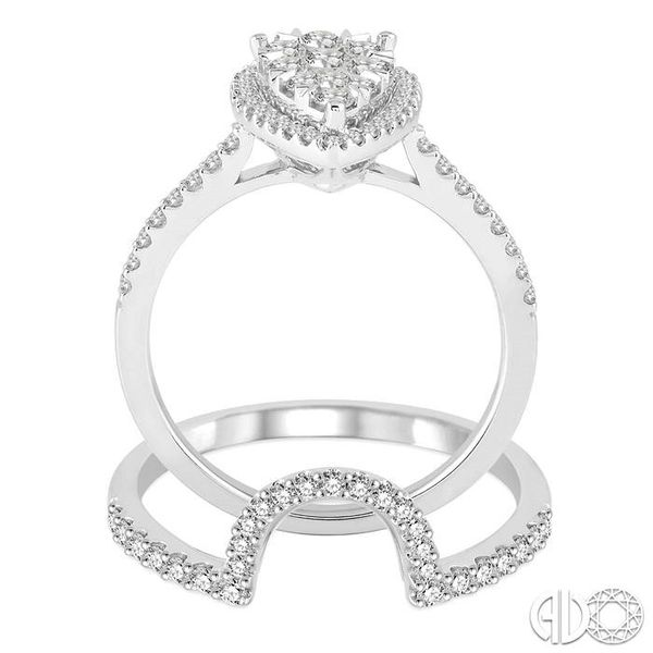 1 Ctw Diamond Lovebright Wedding Set with 3/4 Ctw Engagement Ring and 1/4 Ctw Wedding Band in 14K White Gold Image 3 Becker's Jewelers Burlington, IA