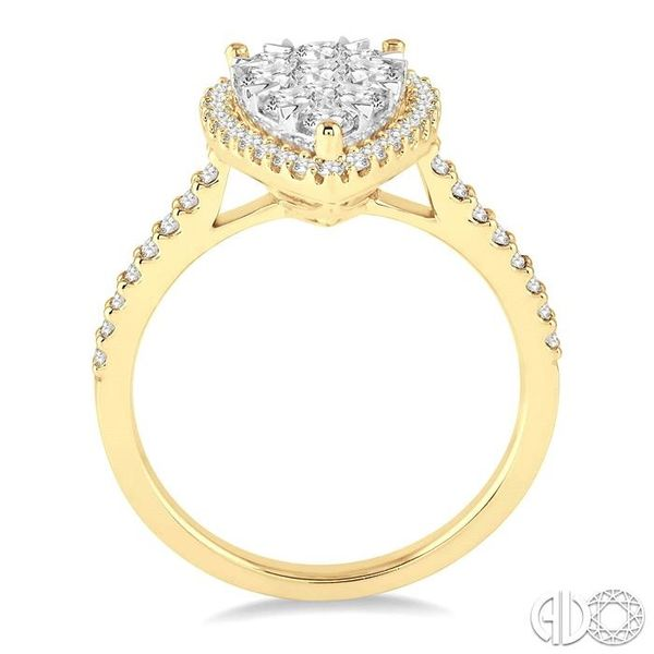 1 Ctw Pear Shape Diamond Lovebright Ring in 14K Yellow and White Gold Image 3 Becker's Jewelers Burlington, IA