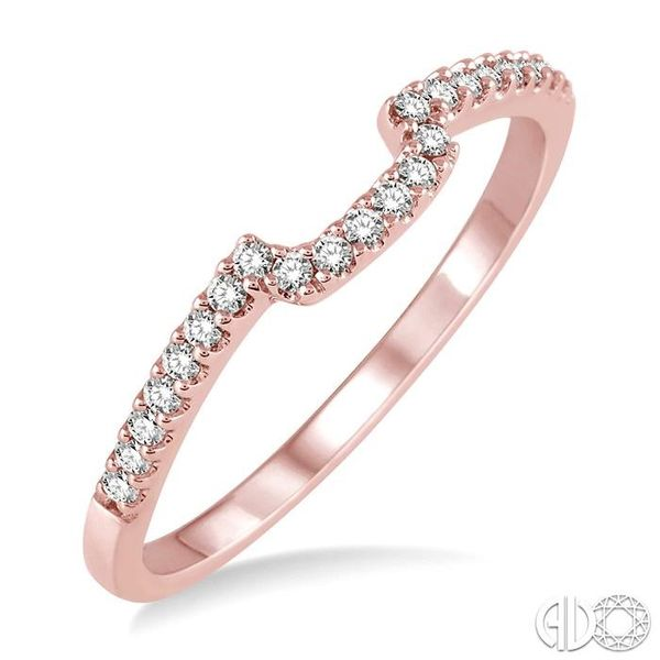1/6 Ctw Round Cut Diamond Wedding Band in 14K Rose Gold Becker's Jewelers Burlington, IA