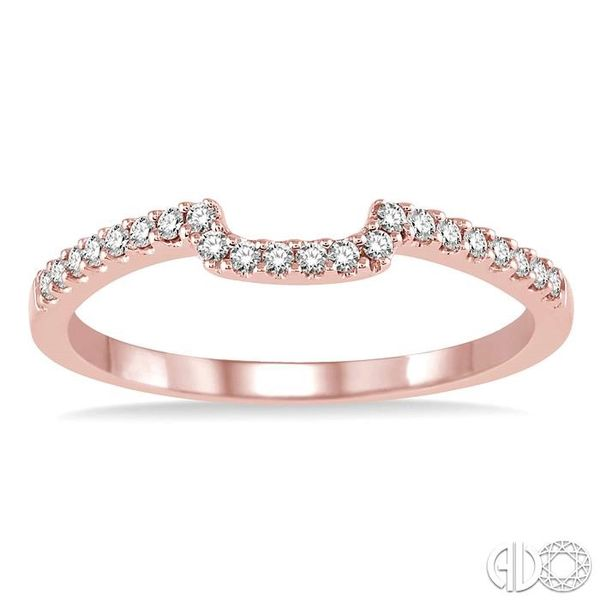 1/6 Ctw Round Cut Diamond Wedding Band in 14K Rose Gold Image 2 Becker's Jewelers Burlington, IA