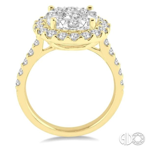 2 Ctw Round Shape Diamond Lovebright Ring in 14K Yellow Gold Image 3 Becker's Jewelers Burlington, IA