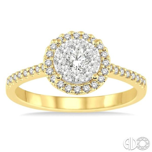 1/2 Ctw Round Shape Diamond Lovebright Ring in 14K Yellow and White Gold Image 2 Becker's Jewelers Burlington, IA