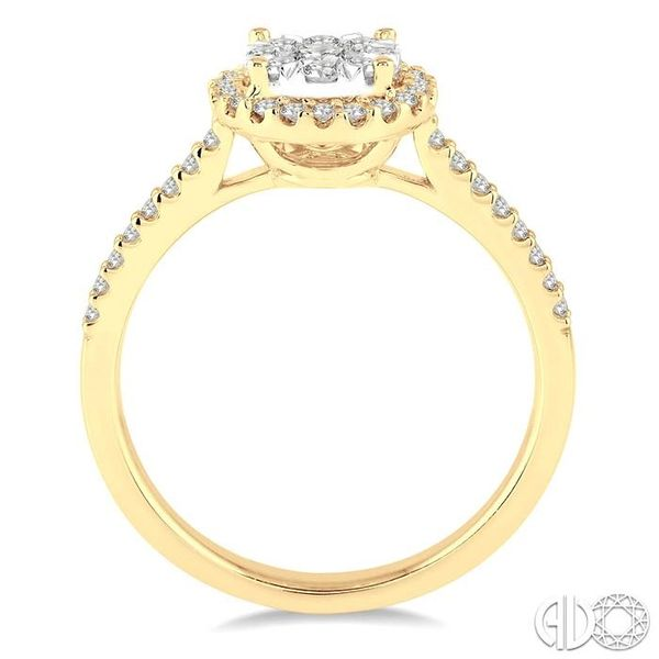 1/2 Ctw Round Shape Diamond Lovebright Ring in 14K Yellow and White Gold Image 3 Becker's Jewelers Burlington, IA