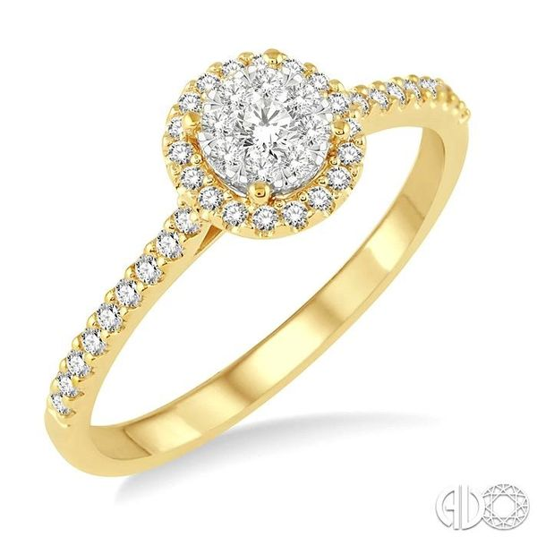 1/3 Ctw Round Shape Diamond Lovebright Ring in 14K Yellow and White Gold Becker's Jewelers Burlington, IA