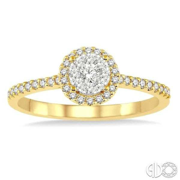 1/3 Ctw Round Shape Diamond Lovebright Ring in 14K Yellow and White Gold Image 2 Becker's Jewelers Burlington, IA