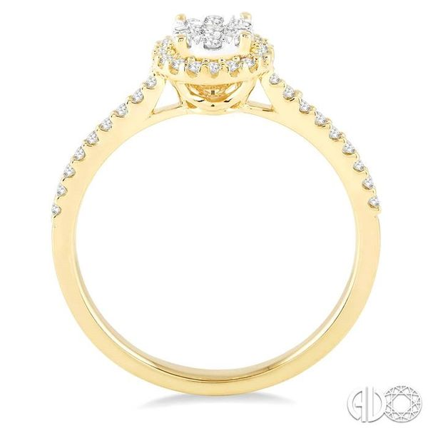 1/3 Ctw Round Shape Diamond Lovebright Ring in 14K Yellow and White Gold Image 3 Becker's Jewelers Burlington, IA