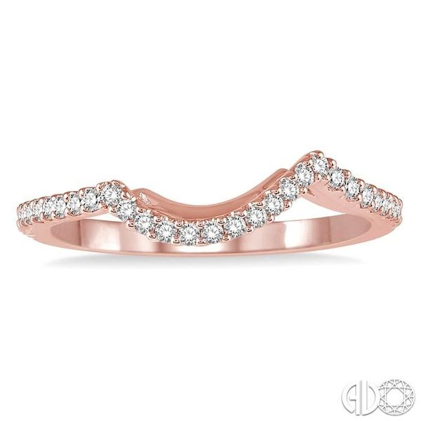 1/5 Ctw Round Cut Diamond Wedding Band in 14K Rose Gold Image 2 Becker's Jewelers Burlington, IA