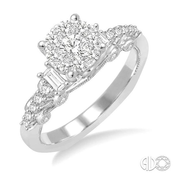 3/4 Ctw Diamond Lovebright Engagement Ring in 14K White Gold Becker's Jewelers Burlington, IA
