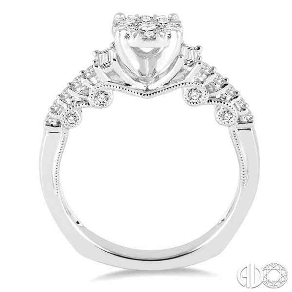 3/4 Ctw Diamond Lovebright Engagement Ring in 14K White Gold Image 3 Becker's Jewelers Burlington, IA