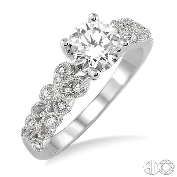 1/10 Ctw Diamond Semi-Mount Engagement Ring in 14K White Gold Becker's Jewelers Burlington, IA