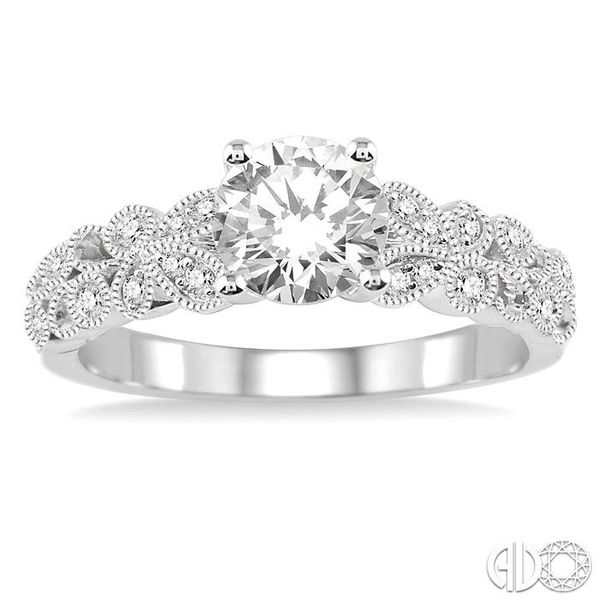 1/10 Ctw Diamond Semi-Mount Engagement Ring in 14K White Gold Image 2 Becker's Jewelers Burlington, IA