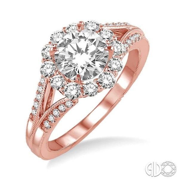 5/8 Ctw Diamond Semi-Mount Engagement Ring in 14K Rose Gold Becker's Jewelers Burlington, IA