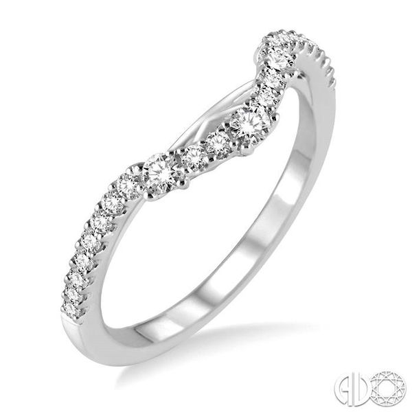 1/3 Ctw Round Cut Diamond Wedding Band in 14K White Gold Becker's Jewelers Burlington, IA