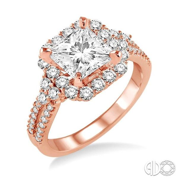 7/8 Ctw Diamond Semi-Mount Engagement Ring in 14K Rose Gold Becker's Jewelers Burlington, IA