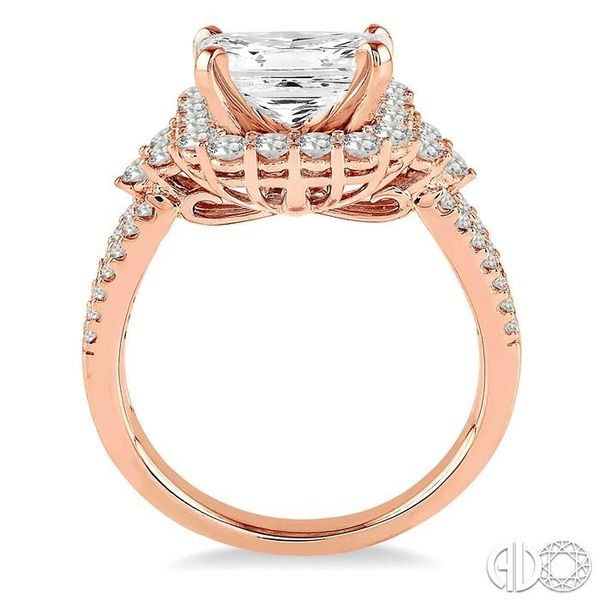7/8 Ctw Diamond Semi-Mount Engagement Ring in 14K Rose Gold Image 3 Becker's Jewelers Burlington, IA