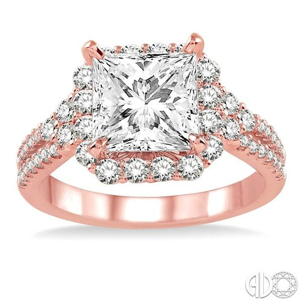7/8 Ctw Diamond Semi-Mount Engagement Ring in 14K Rose Gold Image 2 Becker's Jewelers Burlington, IA