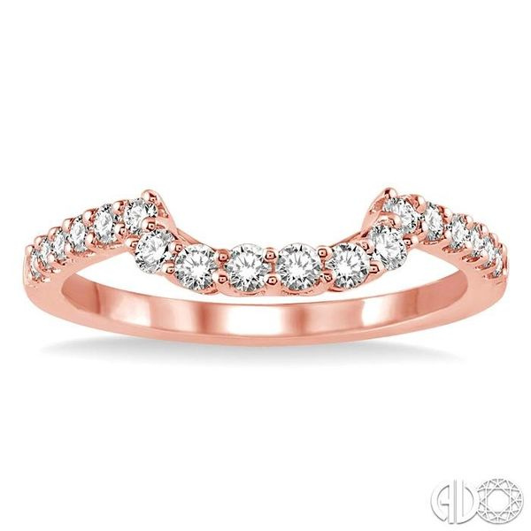 3/8 Ctw Round Cut Diamond Wedding Band in 14K Rose Gold Image 2 Becker's Jewelers Burlington, IA