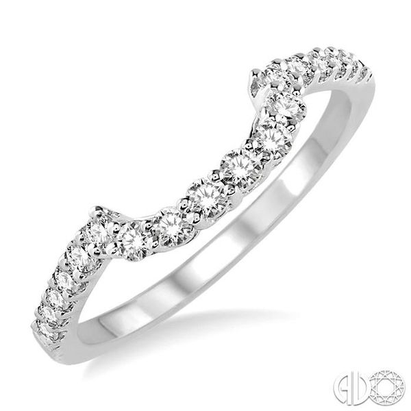 3/8 Ctw Round Cut Diamond Wedding Band in 14K White Gold Becker's Jewelers Burlington, IA