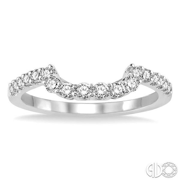 3/8 Ctw Round Cut Diamond Wedding Band in 14K White Gold Image 2 Becker's Jewelers Burlington, IA