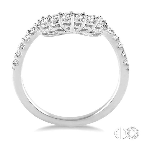 3/8 Ctw Round Cut Diamond Wedding Band in 14K White Gold Image 3 Becker's Jewelers Burlington, IA