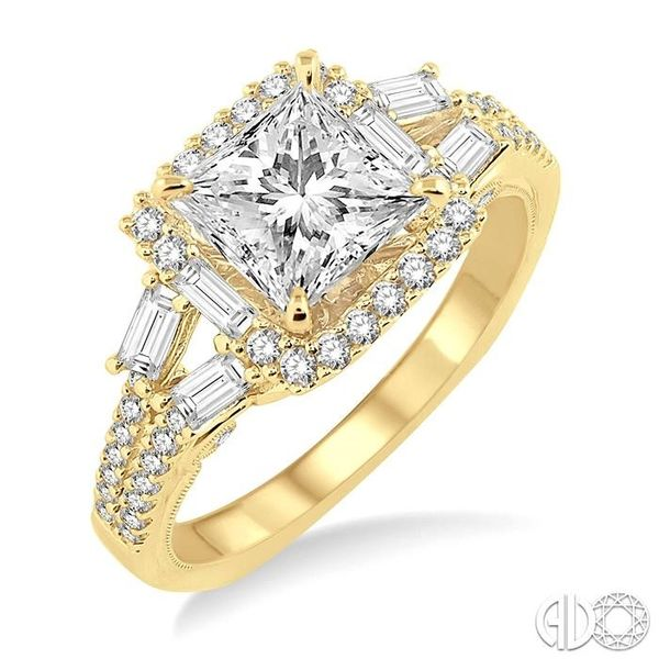 3/4 Ctw Diamond Semi-Mount Engagement Ring in 14K Yellow Gold Becker's Jewelers Burlington, IA