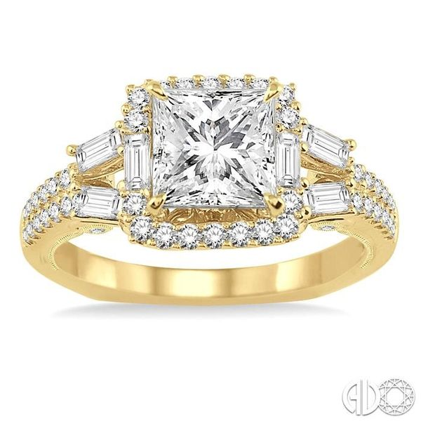 3/4 Ctw Diamond Semi-Mount Engagement Ring in 14K Yellow Gold Image 2 Becker's Jewelers Burlington, IA