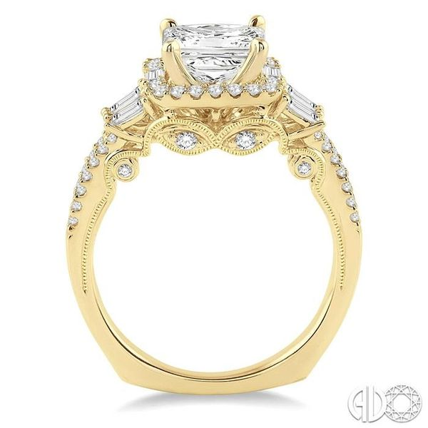 3/4 Ctw Diamond Semi-Mount Engagement Ring in 14K Yellow Gold Image 3 Becker's Jewelers Burlington, IA