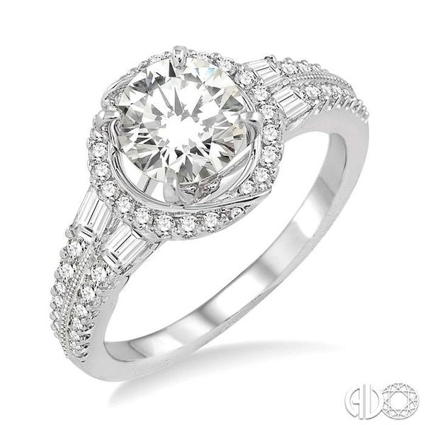 5/8 Ctw Diamond Semi-Mount Engagement Ring in 14K White Gold Becker's Jewelers Burlington, IA
