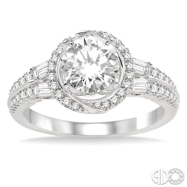 5/8 Ctw Diamond Semi-Mount Engagement Ring in 14K White Gold Image 2 Becker's Jewelers Burlington, IA