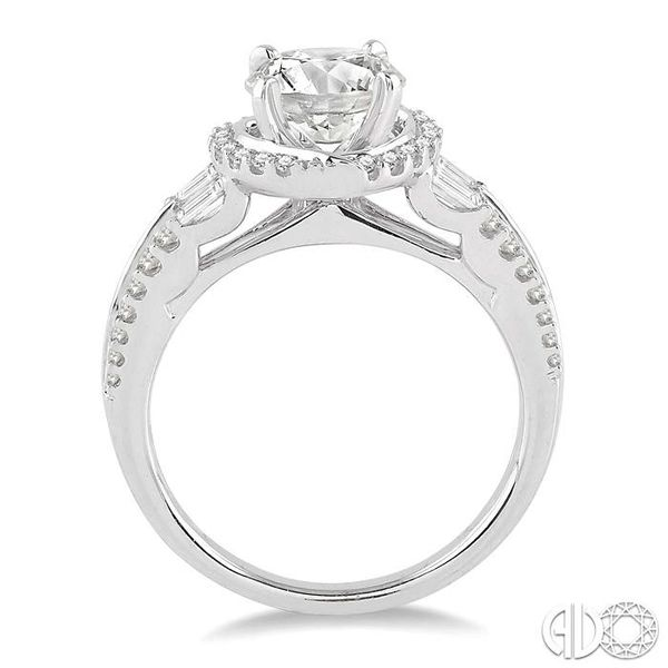 5/8 Ctw Diamond Semi-Mount Engagement Ring in 14K White Gold Image 3 Becker's Jewelers Burlington, IA