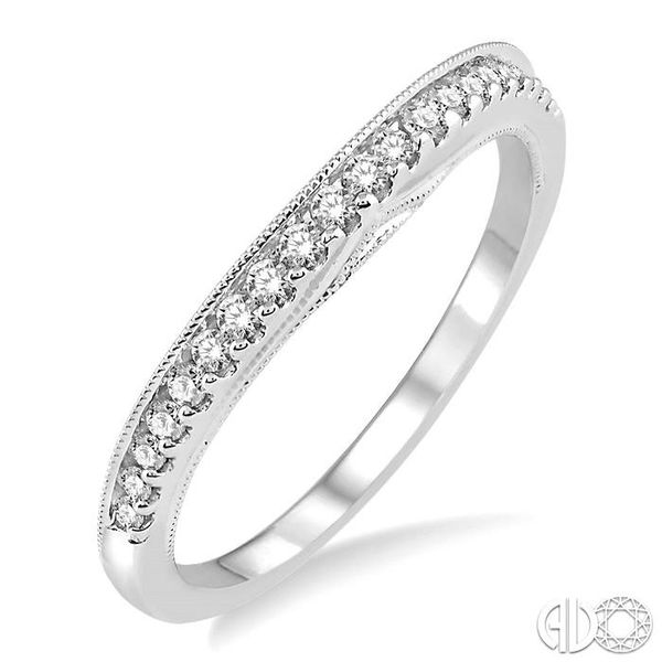 1/4 Ctw Round Cut Diamond Wedding Band in 14K White Gold Becker's Jewelers Burlington, IA