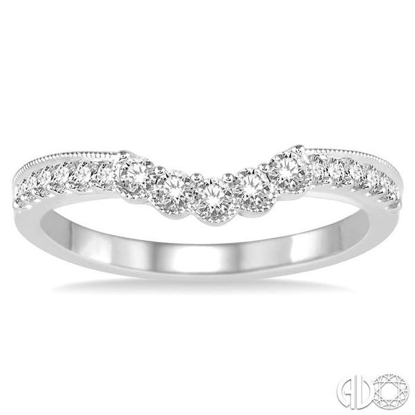 1/3 Ctw Round Cut Diamond Wedding Band in 14K White Gold Image 2 Becker's Jewelers Burlington, IA