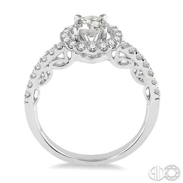 3/8 Ctw Diamond Semi-Mount Engagement Ring in 14K White Gold Image 3 Becker's Jewelers Burlington, IA