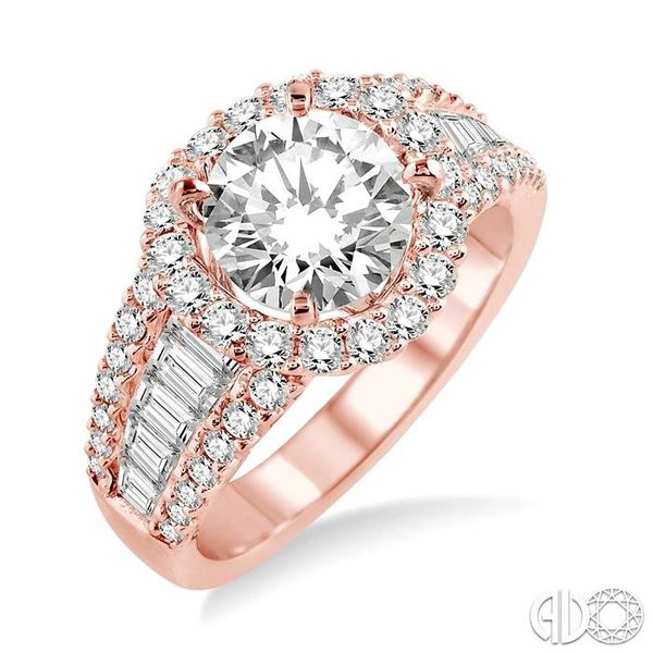 1 1/3 Ctw Diamond Semi-Mount Engagement Ring in 14K Rose Gold Becker's Jewelers Burlington, IA