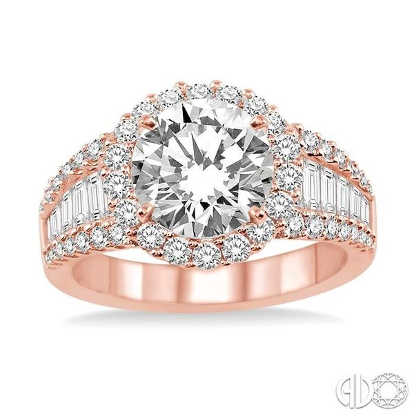 1 1/3 Ctw Diamond Semi-Mount Engagement Ring in 14K Rose Gold Image 2 Becker's Jewelers Burlington, IA