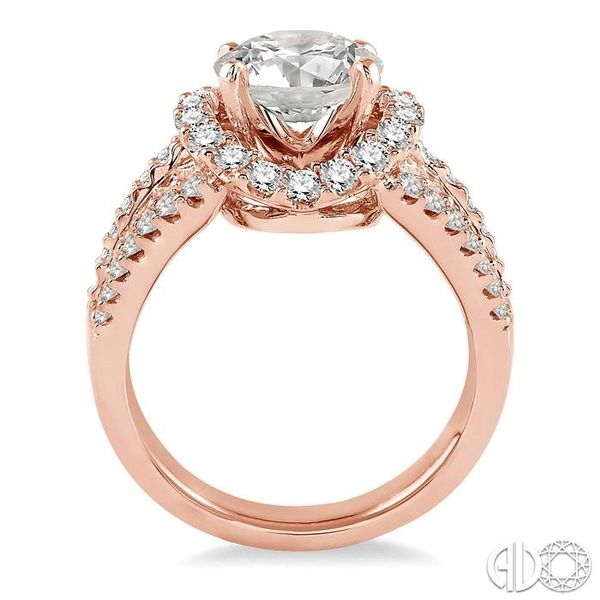 1 1/3 Ctw Diamond Semi-Mount Engagement Ring in 14K Rose Gold Image 3 Becker's Jewelers Burlington, IA