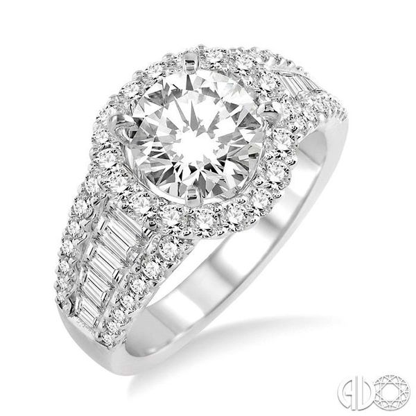 1 1/3 Ctw Diamond Semi-Mount Engagement Ring in 14K White Gold Becker's Jewelers Burlington, IA